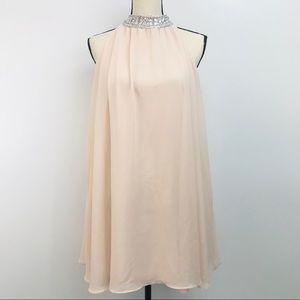 Romeo and Juliet Jeweled High Neck Dress L Pink